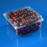 China High Quality Clear PET Plastic Fruit Box 1000g Cherry Clamshell Packaging on sale