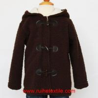 Wholesale Fluffy Fleece Baby Boy Coat Winter Hooded Jacket for Children from china suppliers