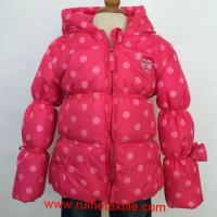 Stylish Winter Down Coat Outdoor Printed Hiking Overcoat for Girls