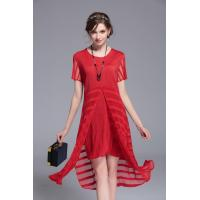 Buy cheap Woman Slimming Crinkle False Two Pieces Splicing Dress from wholesalers