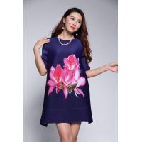 Buy cheap The Dress With Bauhinia Printing Elegant Mother Outfit from wholesalers