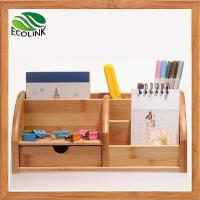 Eco-friendly Bamboo Space Saving Desk Storage Caddy Organizer Accessories