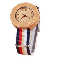 Wholesale Black Leather Strap Custom Design Carbonized Bamboo Watch from china suppliers