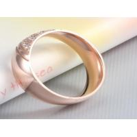 Buy cheap White CZ Diamond Engagement Rings fashion stainless steel wedding rings from Wholesalers