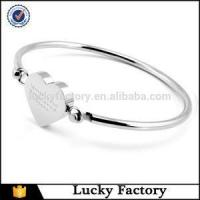 Buy cheap Personalised Gifts Engraved Laser Lovely Heart Stainless Steel Bady Bangle Bracelets from Wholesalers