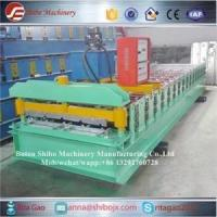 Buy cheap Galvanized Steel Ridge Cap Tile Cold Roll Forming Machine from wholesalers