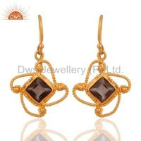 Buy cheap Sterling Silver Smoky Quartz Earrings from Wholesalers