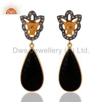 Wholesale Black Onyx Sterling Silver Earrings from china suppliers