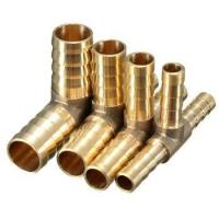 China 3 Ways Tee Hose Barb Barbed Brass Fitting Adapter Coupler Connector on sale