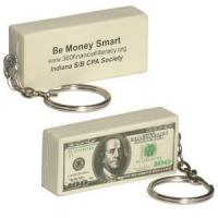 China $100 Bill Stress Reliever Keychain on sale