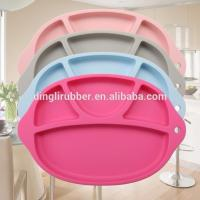 Wholesale Water-proof Baby Silicone dinner plate One-piece Placemats f from china suppliers