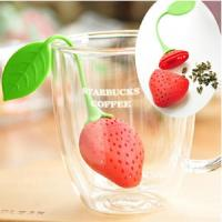 Wholesale FDA Approved Super Cute Strawberry Silicone Tea Infuser from china suppliers