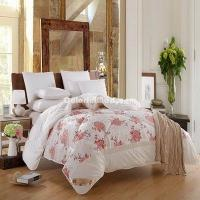Wholesale Blooming Flowers White Cashmere Comforter from china suppliers