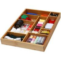 """Wholesale Bamboo Utility Drawer Organizer for Kitchen, Bathroom, Office and Cosmetics Size: 17.5""""lx12.5""""wx1.9"""" from china suppliers"""