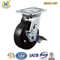 China Industrial heavy duty swivel caster wheel with brake,rubber wheel on sale