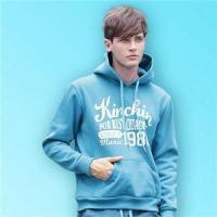Buy cheap Fashion Letter Printed Pullover Short Sleeve Grey Hoodies and Sweatshirts with Earphone from Wholesalers