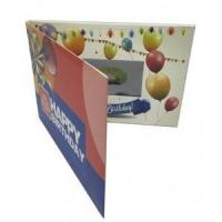 China Happy Birthday Video Greeting Cards with 4CP Imprint on sale