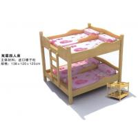 Wholesale Wholesale High Quality Kindergarten Kids Wooden Bunk Bed for Four Children from china suppliers