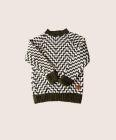 Quality Khaki And White Patterned Sweater for sale