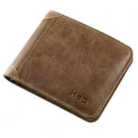 China Mens Wallet Genuine Leather Casual Vintage Purse Name Card Credit Money Clip Holders on sale