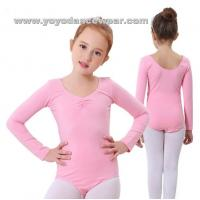 Wholesale LEO015Soft Cotton Long Sleeve Leotards from china suppliers