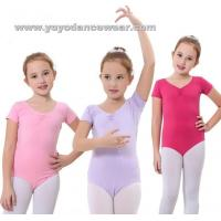 Wholesale LEO006Cotton Short Sleeve leotard from china suppliers