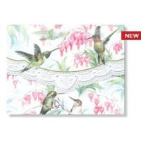 Wholesale Discount Teaware Carol Wilson Hummingbirds Note Card Portfolio from china suppliers