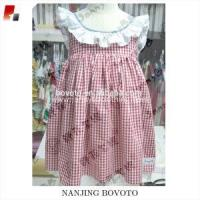 Wholesale Red gingham lace dress for girl school dress from china suppliers