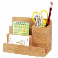 Wholesale bamboo desk holder and organizer from china suppliers
