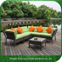 China 6 Pieces Garden Rattan Sofa Set, L Shape, Low Price on sale