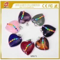 China Natural Heart Gemstone Pendant with Seven Chakras Stone on sale