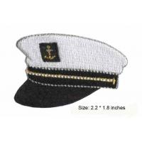 Wholesale Navy Cap Embroidery Sewing Patch With Glue Backing Side from china suppliers