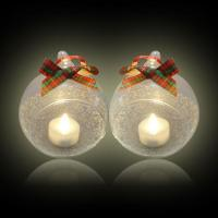 China Clear Glass Hanging Glass Ball Candle Holder for Halloween on sale