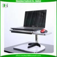 China Metal made bed use computer desk table with adjustable keyboard tray on sale