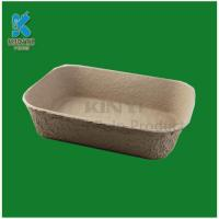Buy cheap Biodegradable molded pulp flower pots trays from wholesalers