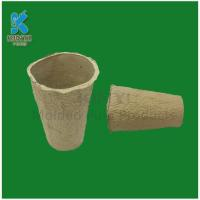 Buy cheap Tall Biodegradable Fiber Molded Flower Pots from wholesalers