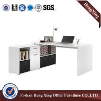 Wholesale Two Pedestals White Wood Table Office Work Table Modern Computer Table from China HX-5N303 from china suppliers