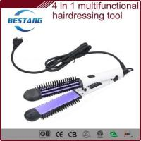 Wholesale multi-functional hair styling set combined with hair straightener, curling iron,comb and message from china suppliers