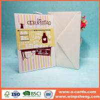 Wholesale Simple Ideas Embossed Handmade Birthday Greeting Card from china suppliers