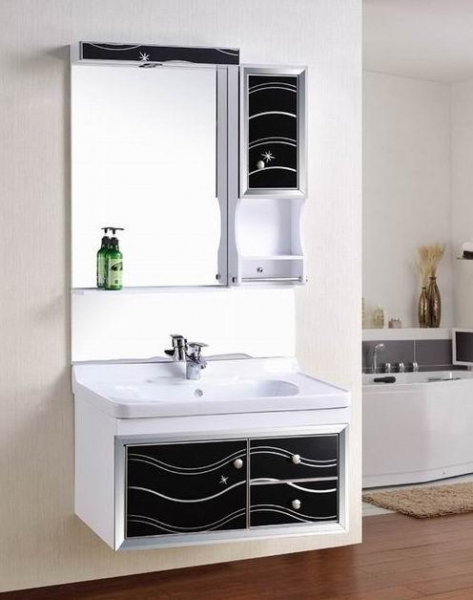 Wall Mounted Waterproof Pvc Classic Bathroom Cabinet Of