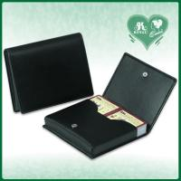 Wholesale PU Leather Playing Cards case With Metal Buckle (M208-B/ M208-P) from china suppliers