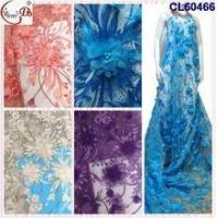 Wholesale CL17-142 (2) Latest High Quality African Red French Tulle Lace Fabric For Nigerian Clothes from china suppliers