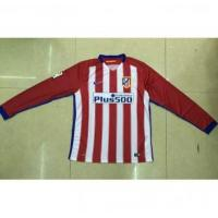 China AAA(Thailand) Quality Atletico Madrid 15/16 Home Long Sleeve Soccer Jersey on sale