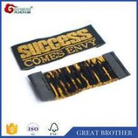 Wholesale straight cut gold neck label for clothing /woven label for apparel from china suppliers