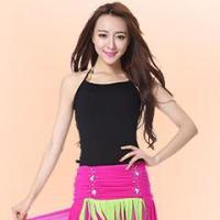 Wholesale Sexy Black Cotton Belly Dance Practice Top,Girl Belly Dance Practice Wear Top from china suppliers