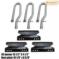Wholesale Gas Grill Repair Kit Replacement Stainless Steel Burners and Porcelain Steel Heat Plate 3pack from china suppliers