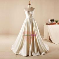 China Simple Princess Satin Wedding Dresses Long Sleeve Jacket Available WD1561 on sale