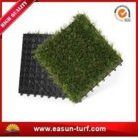 Wholesale 25mm Height Interlocking Artificial Grass Tiles for Floor Mat from china suppliers