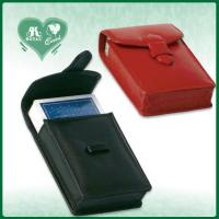 Wholesale PU Leather Playing Cards case With Leather Buckle (M209-3B / M209-3P) from china suppliers