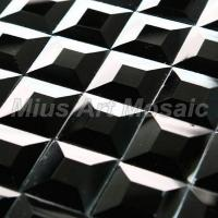 Buy cheap Black glass mosaic mirror D11272 from Wholesalers